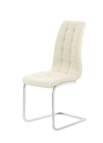 Aracelli Square Stitch Padded Designer Dining Chair - Cream